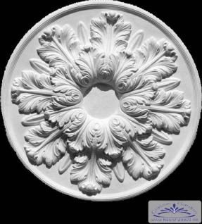 R-23 Deckenelement mit floralem Design als Schmucklement für Decke als Rosette aus Gipsstuck 64cm