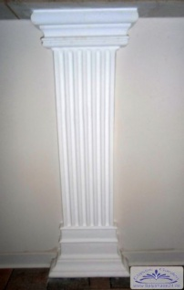 Pilaster SET 15 Gipsstuck Lisenen Ziersäule mit Sockel und Kapitell aus Stuck Gips