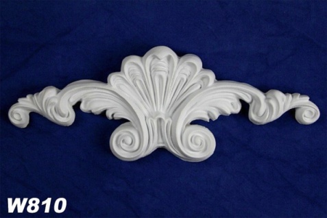 HX-W810 Wand und Decken Zierstuck Dekorelement als Innenstuck Zierelement PU Hartschaum 220x80mm 1 Stück