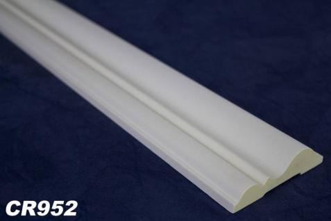 HX-CR952 Flaches Leisten Zierstuck Profil für Wand und Decken Innenstuck aus PU Hartschaum 80x21mm 200cm