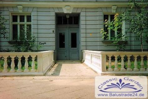 Typ-02 Balustrade 73cm hoch zur Gartend und Fassaden Dekoration und Mauerabschluss ohne Pfeiler 122cm lang - Vorschau 4