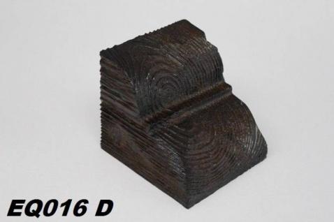 HX-EQ016D Konsole für Deckenbalken aus leichtem Polyurethan Hartschaum als rustikale Innendekoration 120x120x140mm Preis je Stück