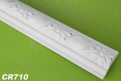 HX-CR710 Flache Leiste mit Musterung für Wand und Decken als Innenstuck 40x25mm Profil 200cm