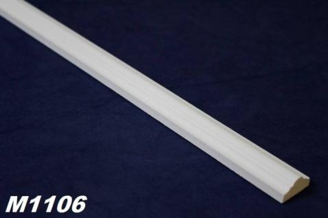 HX-M1106 Zierleiste für Wand und Decke als Innenstuck Profil aus PU Hartschaum 23x14mm 200cm