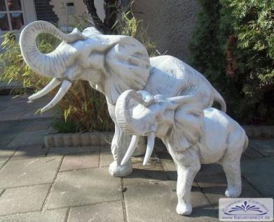 SRS103109 Grosse Elefantenfigur Steinfigur Elefant als Gartendekoration 67cm 95kg - Vorschau 4
