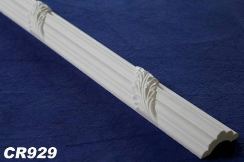 HX-CR929 Flache Leiste für Wand und Decken Innenstuck Profil aus PU Hartschaum 45x20mm 200cm