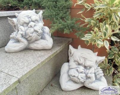 SR024 025 Gargoyl Gesichter als Mauerhocker Gartdendeko Torwächter Figuren - Vorschau 2
