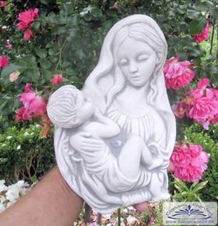 SA-N667 Wandrelief der Heiligen Maria mit kind Heiligenfigur Relief Mutter Gottes 33cm 5kg