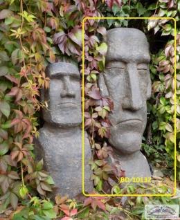 BD-10132 Moai Skulptur Osterinsel Gesicht als Gartenfigur Rapa Nui Steinfigur 100cm 104kg - Vorschau 4