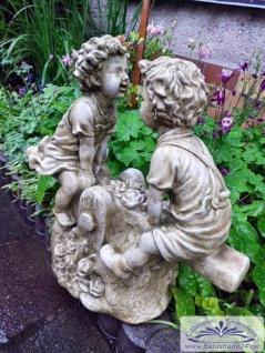 SA-N519 Kinder auf Wippe Schaukel Kinderfigur Gartendeko Figur 38cm 15kg - Vorschau 2