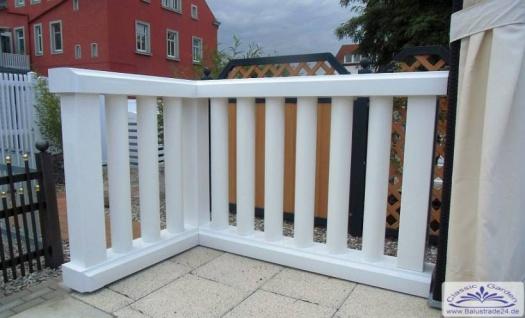 Leichte Rundrohr Balustrade für Balkon nur 25kg je Meter aus Kunststoff ohne streichen Leichtbalustrade