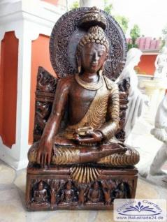 BD-3115 sitzender Buddha XXL Buddhafigur für asiatische Garten Deko 94cm 128kg - Vorschau 5
