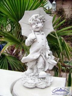 SA-N476 Kleine Kinder Gartenfigur Junge Leo mit Schirm 40cm 7kg - Vorschau 4