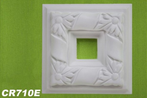HX-CR710E Schmuck Eck Platte zur Flachleiste CR710 Wand Decken Zierelement 330x330mm 1 Stück