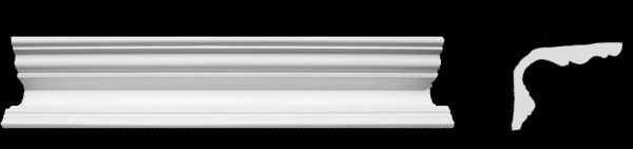 Eckprofil C-1 Gipsstuck Profil 75x95mm Stuckleiste Gips Stuck Kehlenprofil 350cm