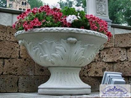 RM-Collection Ovale Pflanzschale Pflanzgefäß Blumenschale Ziervase Parkvase sandsteingelb 60cm 124kg