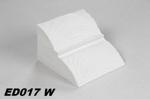 HX-ED017W Konsole für Deckenbalken aus leichtem Polyurethan Hartschaum als rustikale Innendekoration 60x90x110mm Preis je Stück