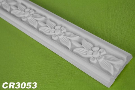 CR3053 Flache Leiste mit Musterung für Wand und Decken Innenstuck 48x13mm Profil 200cm
