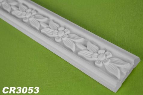 HX-CR3053 Flache Leiste mit Musterung für Wand und Decken Innenstuck 48x13mm Profil 200cm