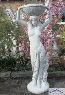 ROP-266 Gartenfigur Frau mit Schale bepflanzbar auf dem Kopf als erotisches Blumenmädchen vom Basar 119cm 77kg