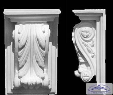 ED-9 Stuckkonsole Höhe 150 mm Gips Stuck Konsole mit Akanthusblatt Dekoration