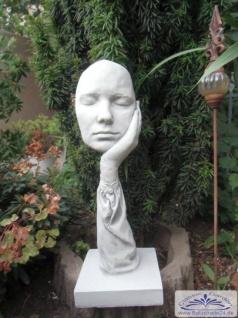 BD-7233 Der Denker Skurrile Figur einer Hand mit Maske Büsten Modern Art Design Skulptur 48cm 9kg - Vorschau 2