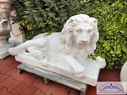 SR633 Gartenfigur Löwe liegend Figur Löwe Skulptur Steinfigur 85cm 234kg