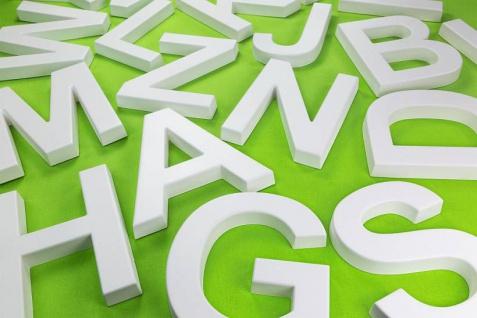 Buchstaben Alphabet ABC für Schriftzüge 20cm Wanddeko im Stil von Beton Buchstaben