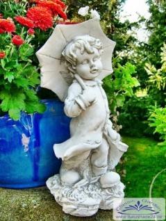 SA-N476 Kleine Kinder Gartenfigur Junge Leo mit Schirm 40cm 7kg - Vorschau 2