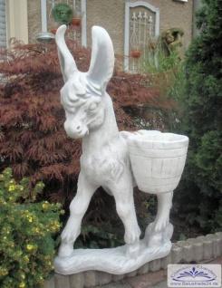 SRS103039 Gartenfigur Esel mit 2 bepflanzbaren Körben 86cm 56kg