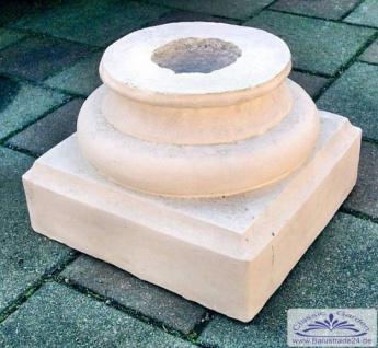 SRS108004C Basis Sockel Kapitell 32x32cm für Säule Säulenbasis für Betonsäule