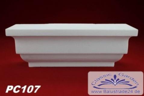 PC107 Pilaster Kapitell small für Pilastersäulen Breite 255mm Styropor Fassadenstuck