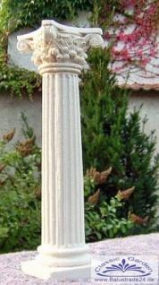 Kleine Kunststein Säule für Teelicht oder Kerze als Tischdeko Kerzenständer 20cm