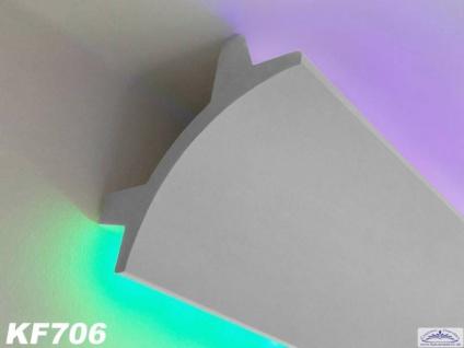 HX-KF706 Lichtleiste für indirekte LED Beleuchtung aus PU Hartschaum 115x115mm 200cm