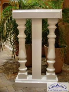 Kunststoff Balustrade für Balkon 60cm lang komplett montiert als Teilstück Preis je Stück