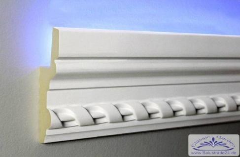HX-LED-5 Lichtleiste für LED Beleuchtung aus PU Hartschaum 105x35mm Wandzierleiste 200cm