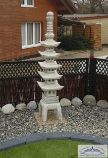 S614 Japanische Stein Pagode 13 Einzelteile grau sehr hoch 185cm 132kg