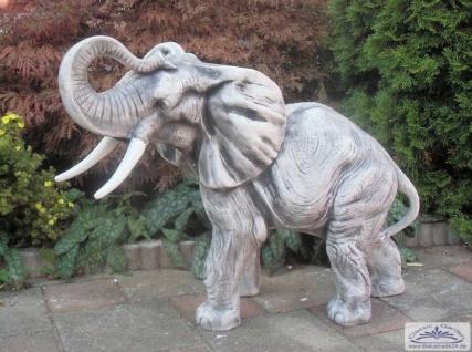 SRS103109 Grosse Elefantenfigur Steinfigur Elefant als Gartendekoration 67cm 95kg - Vorschau 5