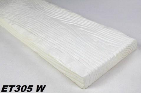 HX-ET305W Brett als Decken- und Wandbrett mit Holzimitat aus leichtem Polyurethan Hartschaum als rustikale Innendekoration 190x35mm Preis je Stück