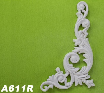 HX-A611R Universelles Wand und Decken Zierstuck Element als Innenstuck Zierelement aus PU Hartschaum 260x126mm 1 Stück