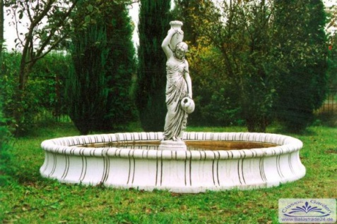 SR343 Brunnenbecken Wasserbecken für Wasserfontäne oder Gartenbrunnen Durchmesser 280cm Beckenrand 35cm - Vorschau 2