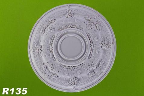 R135 Deckenrosette aus Polyurethan Hartschaum mit glatter weißer Oberfläche 74cm