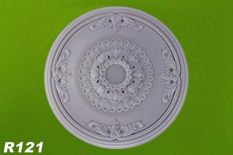 R121 Schmuckvolle Deckenrosette aus Polyurethan Hartschaum mit glatter weißer Oberfläche 66cm