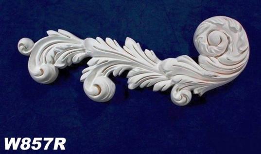 HX-W857R Wand und Decken Zierstuck Element als Innenstuck Zierelement aus PU Hartschaum 450x180mm 1 Stück