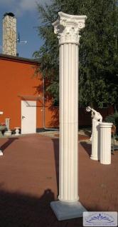 BD-A002 Säule kanneliert 30cm Betonsäule mit Sockel und korinthischem Kapitell Garten Dekoration Eingang 310cm