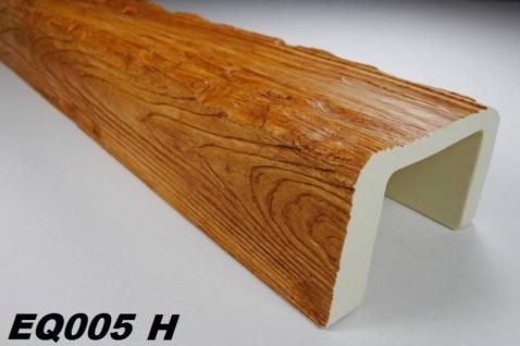 HX-EQ005H Deckenbalken aus leichtem Polyurethan Hartschaum als rustikale Innendekoration 190x130mm Preis je Stück