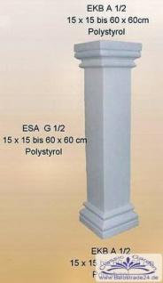 Styropor Säule 3Meter ESA G 40cm eckige glatte Halbschalen Leichtbausäulen Wandverkleidung Säulenverkleidung