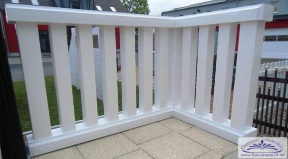 Leichte Vierkant Balustrade für Balkon nur 25kg je Meter aus Kunststoff ohne streichen Leichtbalustrade