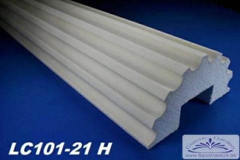 LC101-21H Halbsäule kanneliert 255mm Durchmesser 200cm Halbschalen Styroporsäule für Haus Fassade Vordach Eingang Verkleidung