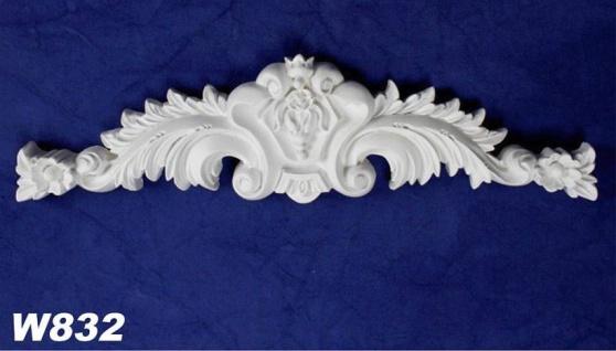HX-W832 Wand und Decken Zierstuck Innenstuck Stuckdekor Ornament Zierelement PU Hartschaum 80x290mm 1 Stück